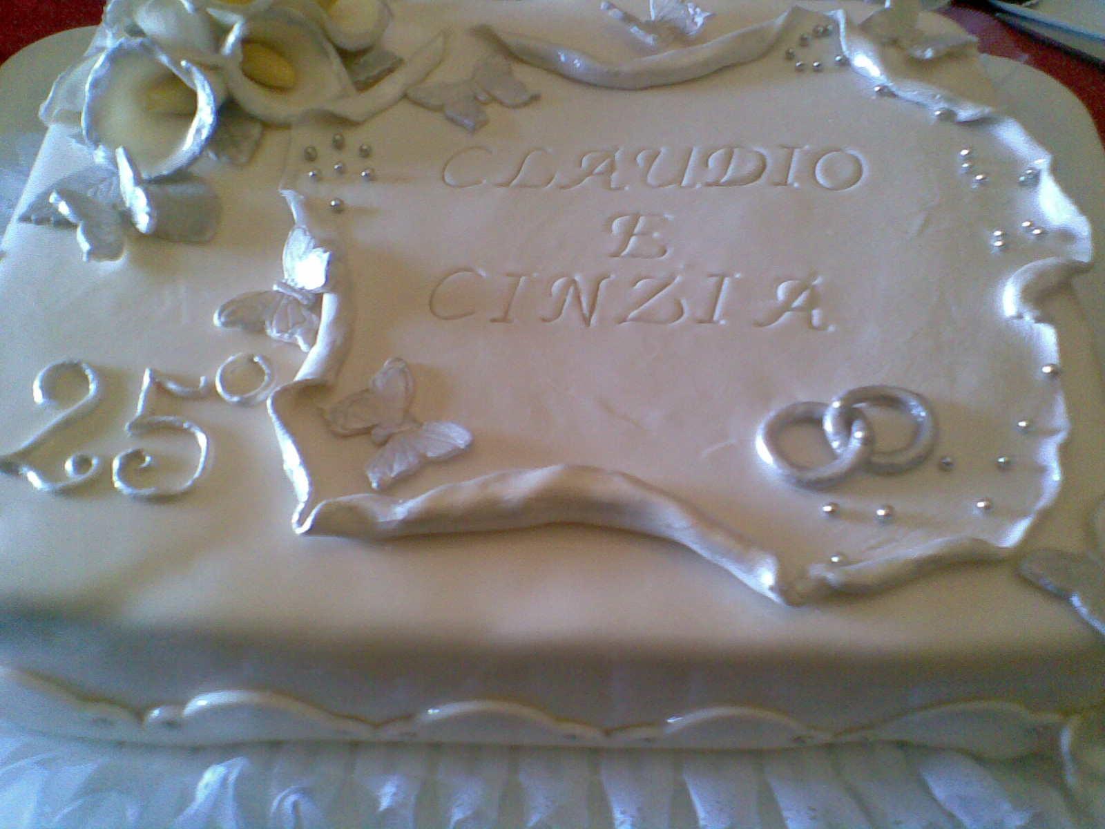 Favori I Dolci Doni di Natascia: Torta Anniversario Matrimonio 25 Anni OM16