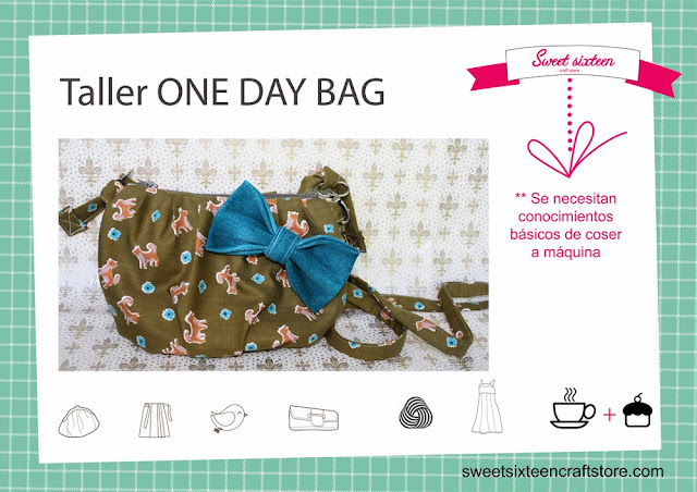 Taller moonográfico ONE DAY BAG en Sweet sixteen craft store