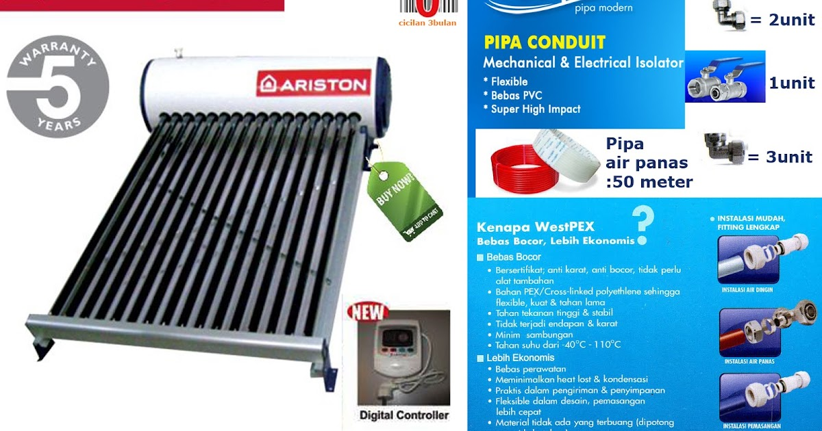 Marketing Kamarmandiku Online Ariston Solar Water Heater