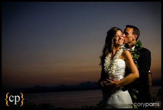 Spectacular sunset wedding photo at Shilshole Bay Beach Club