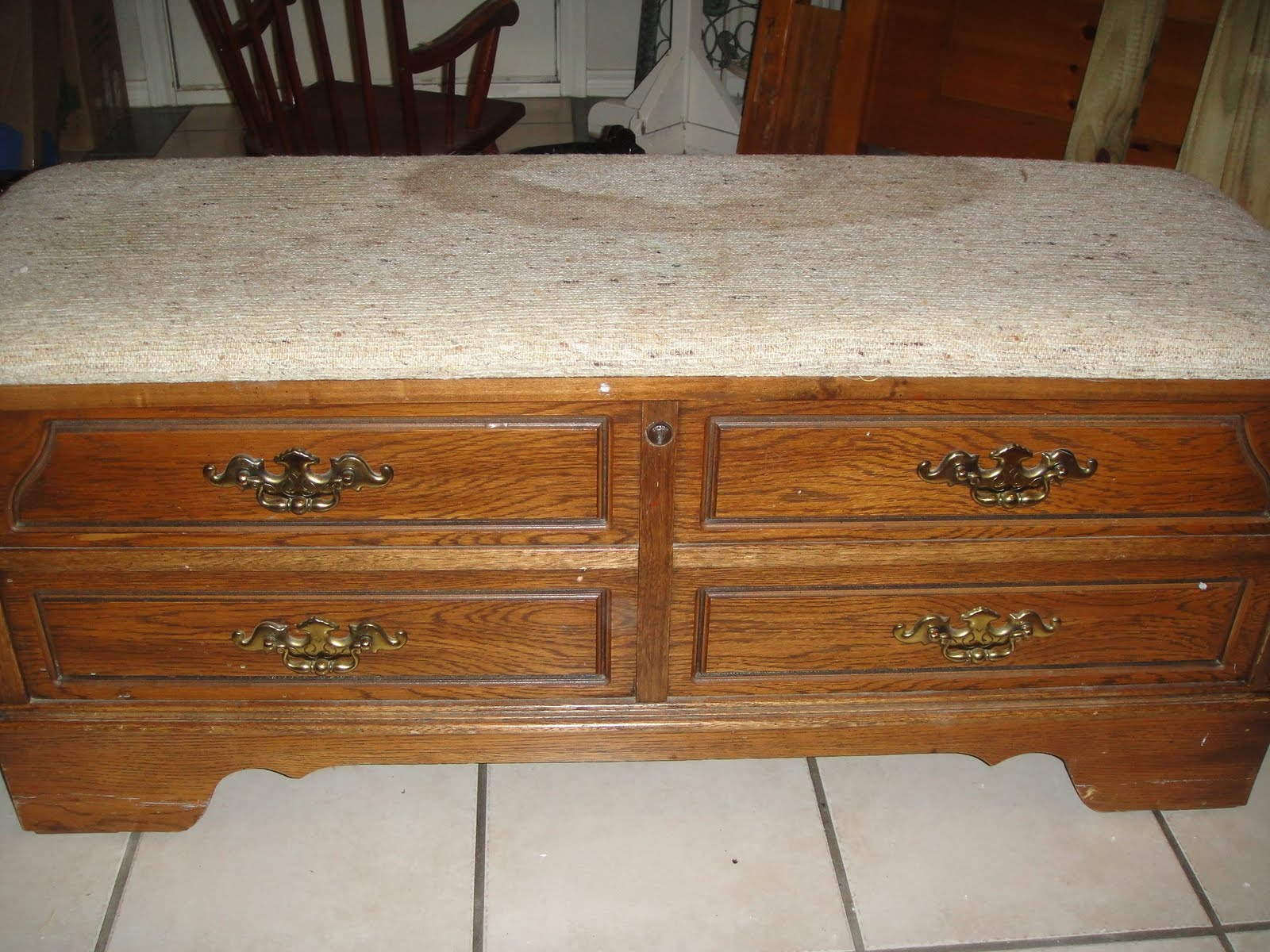 Centsible Creativities How To Recover A Hope Chest Seat