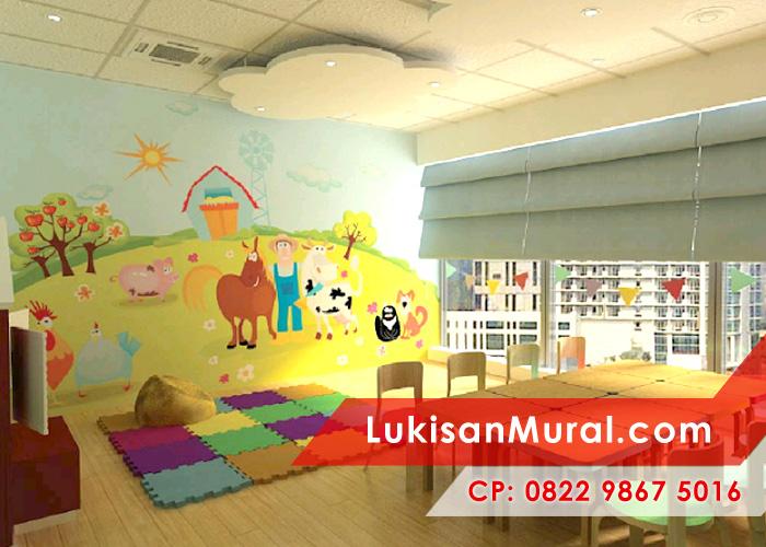 Lukisan mural untuk dekorasi interior artistik dan modern for Mural untuk kanak kanak