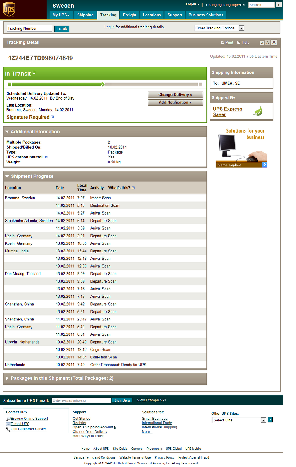 Ups tracking india – Tracking Support