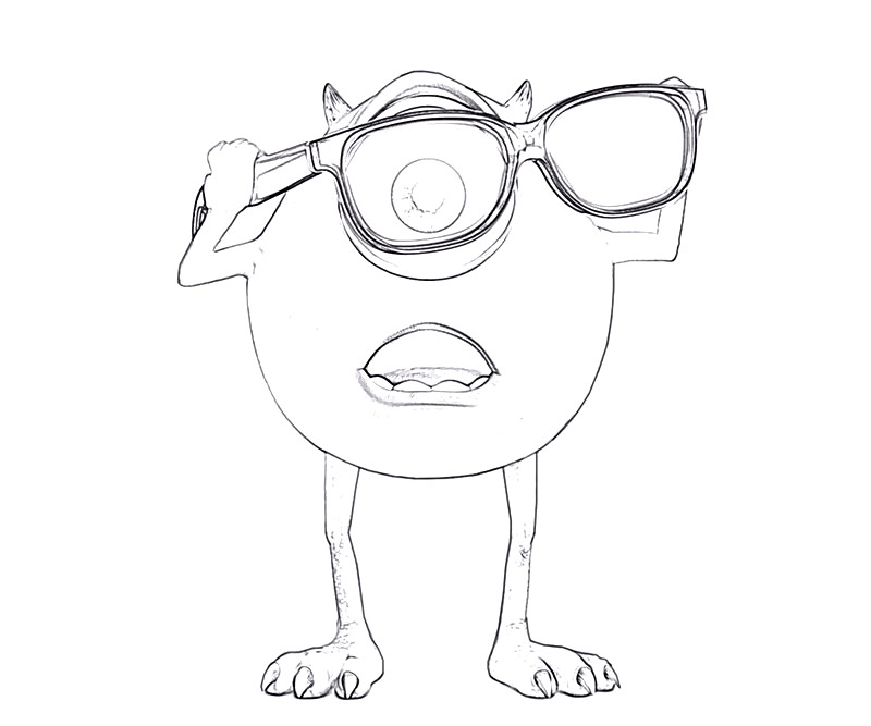 #12 Monsters University Coloring Page