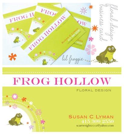 Floral Design business card I designed for super talented Susan Lyman