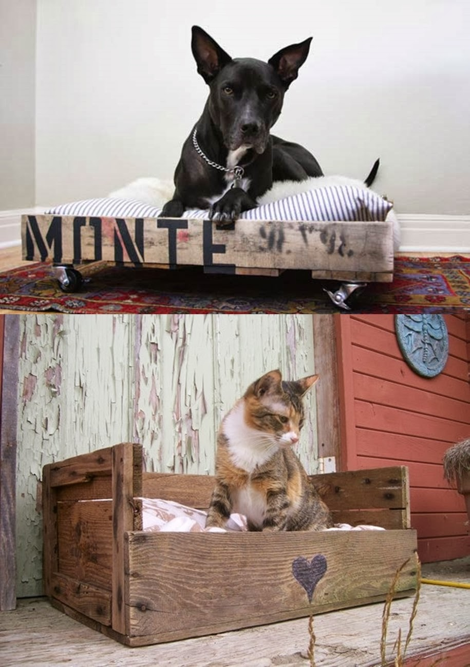 I d e a diy haz una original cama para mascotas for Camas para perros de madera