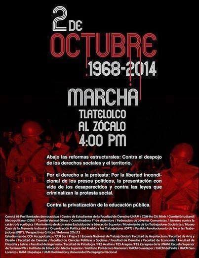2 de octubre 1968 y 2013 REALMENTE NO SE OLVIDAN