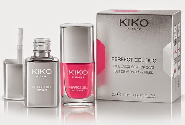 esmaltes de uñas Kiko Perfect Gel Duo + top coat