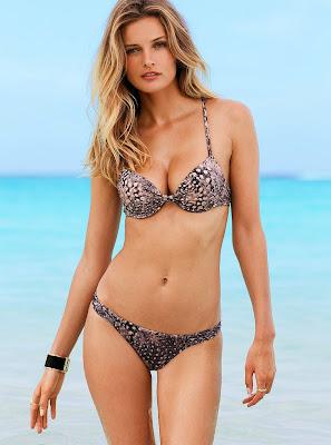 Edita Vilkeviciute showing off her sexy bikini body for Victoria's Secret swimwear