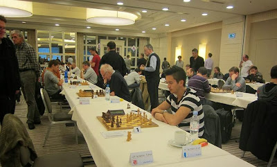 Sala de juego del Campeonato suizo absoluto de ajedrez por equipos