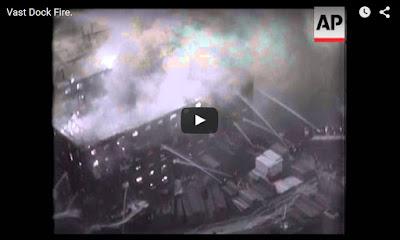 http://www.se16.com/3686-1936-newsreel-clip-of-surrey-docks-fire