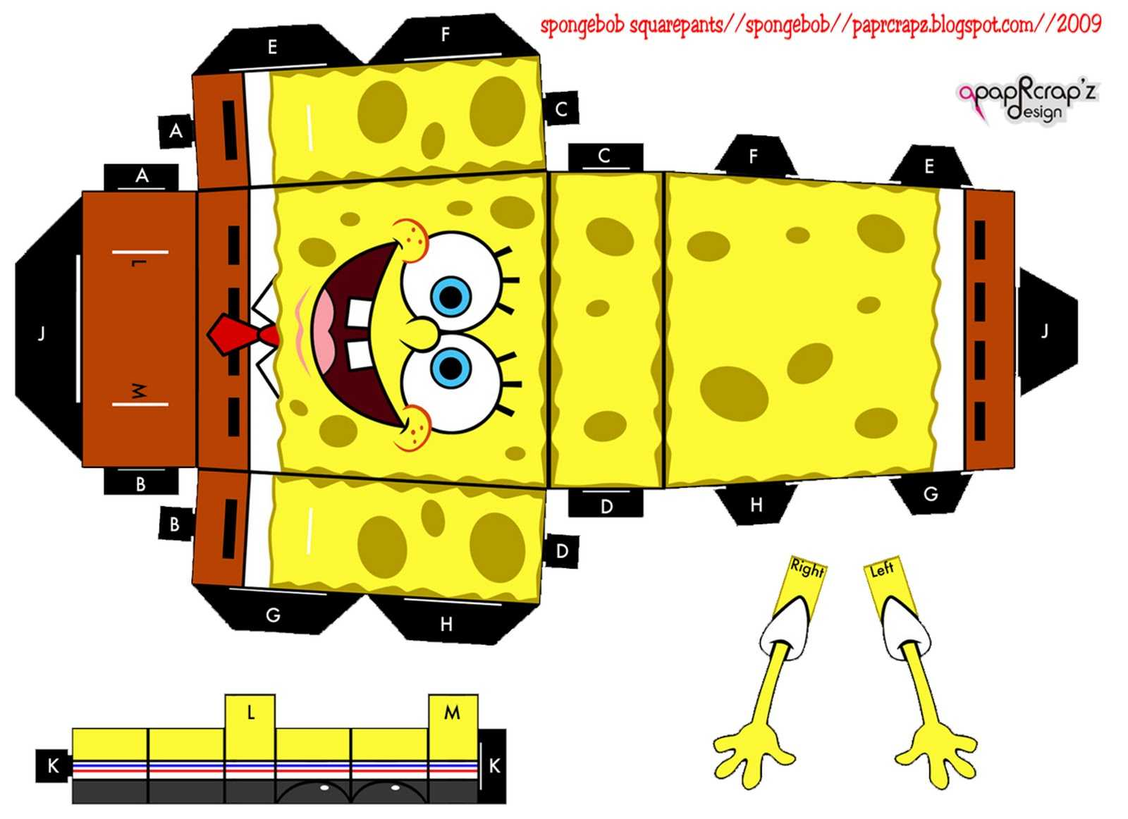 spongebob squarepants the paper Use this in combination with the arms & legs from my other spongebob cubee ([link]) for a more realistic result.