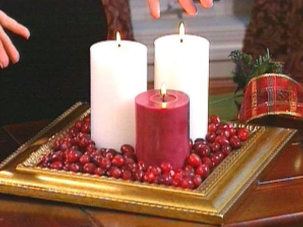 Centros de mesa de navidad con velas parte 2 for Centros navidenos con velas
