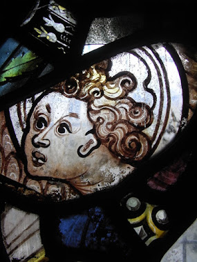Small fragment of stained glass, Lady Chapel, St Marys Church, Nottingham