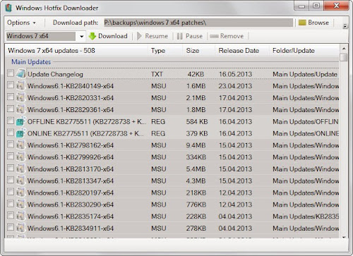 Windows Hotfix Downloader 4.2