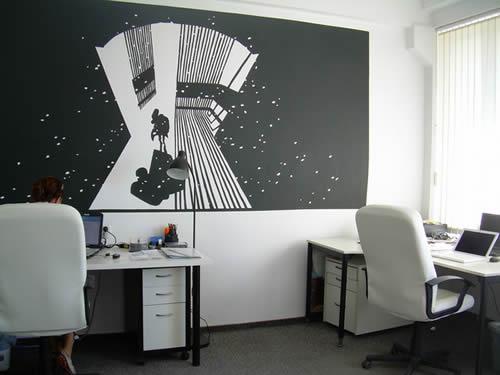 Pintura y madera c mo decorar mi oficina en casa for Como decorar una oficina pequena de trabajo