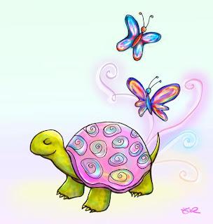 mariposas y tortugas