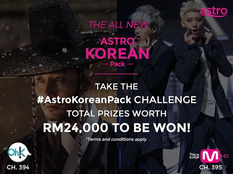 #AstroKoreanPack, Astro, Oh!K HD, 394, Channel M HD, 395