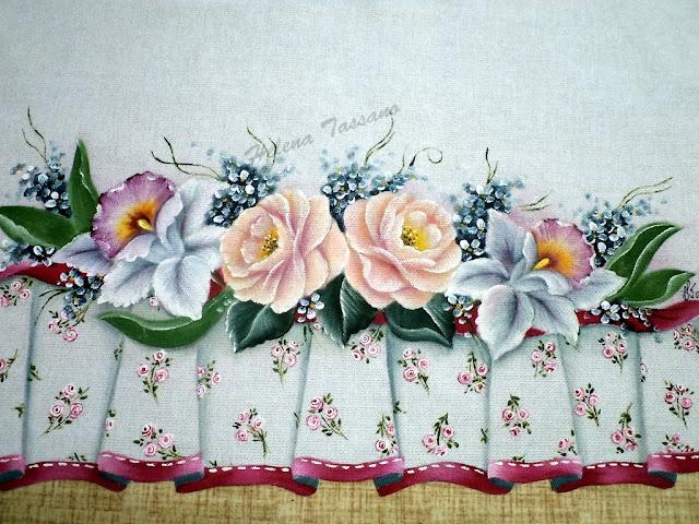 Pintura em tecido passo a passo veja como fazer pintura - Como pintar sobre tela ...