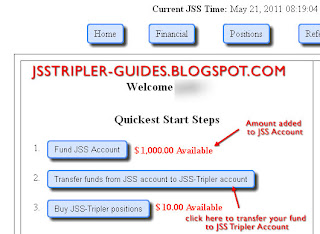Fund added to JSS Account