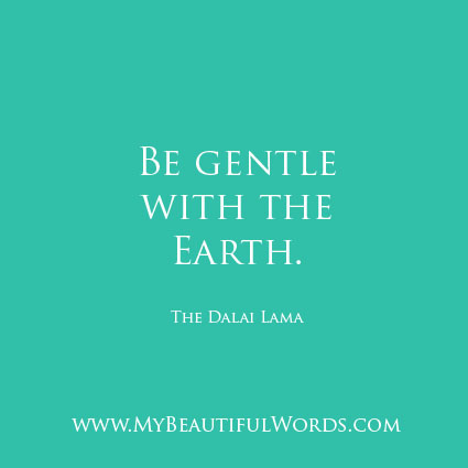 Be Gentle with the Earth...