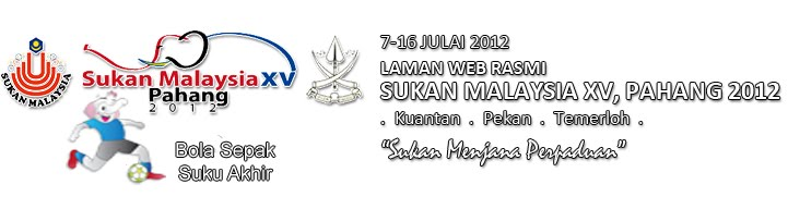 jadual perlawanan bola sepak suku akhir  sukma xv pahang 2012