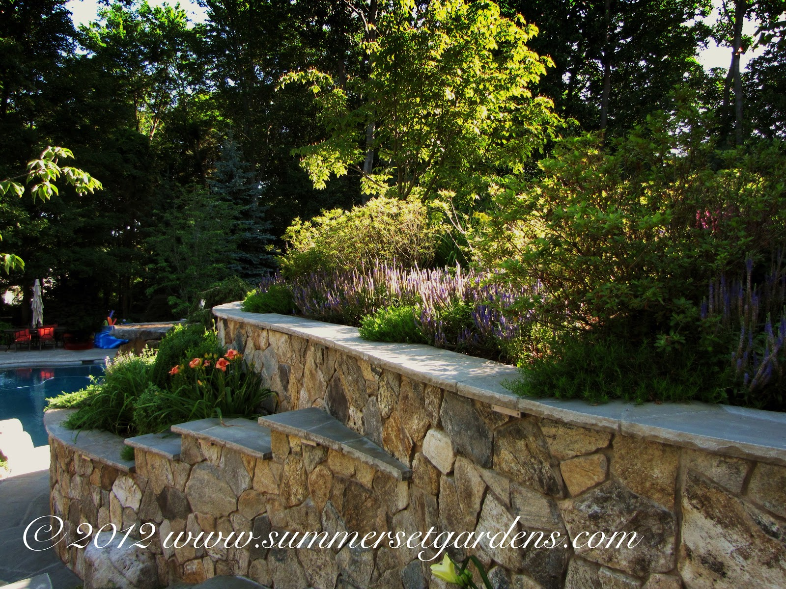 Garden Design A New England Stone Masonry Wall And Landscaping