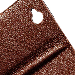 Leather Case for Lenovo A706 - Brown