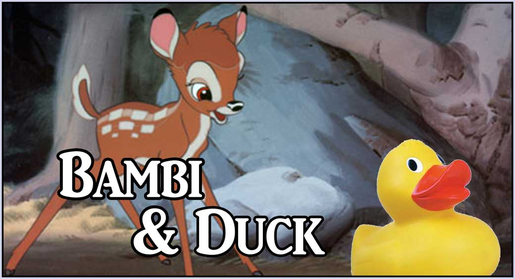 Bambi and Duck