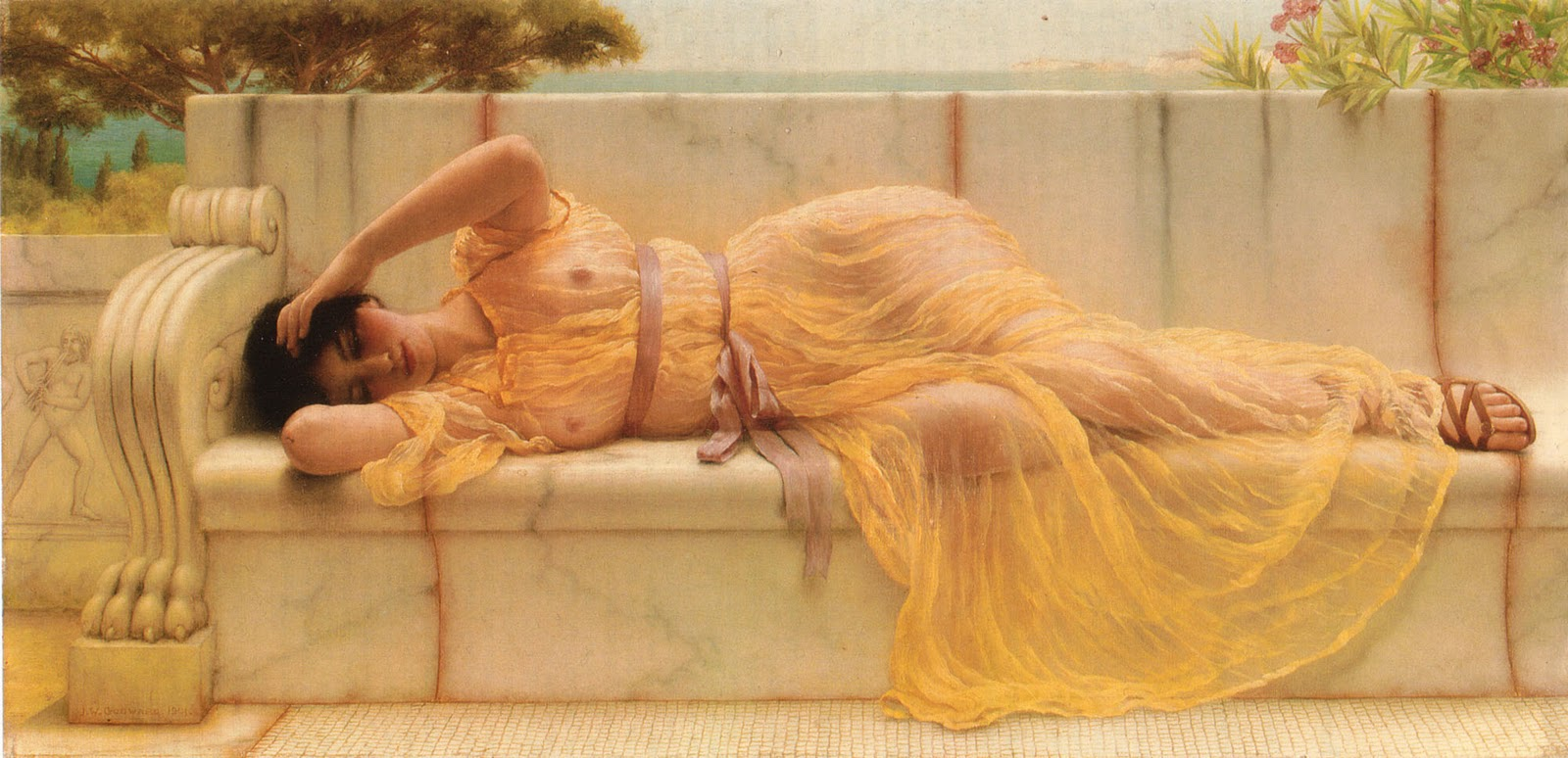godward girl yellow