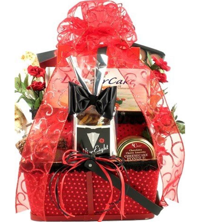 Gift basket village valentine gift basket for him 100 00