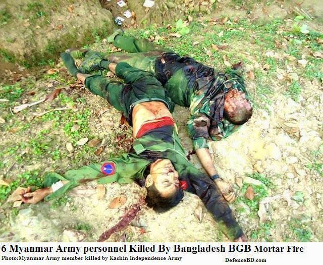 6 Myanmar Army Member killed by Bangladesh BGB
