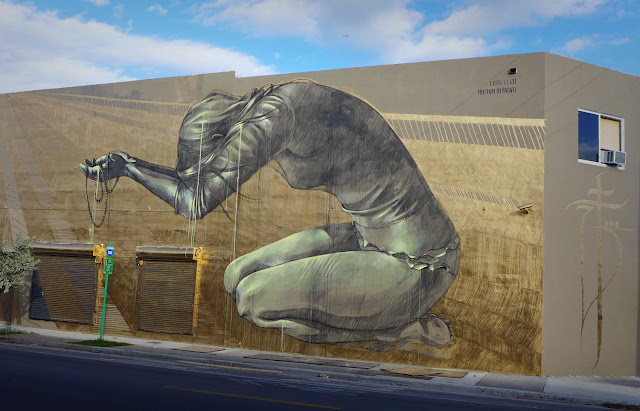 """Multum In Parvo"" New Street Art Piece by Faith47 For Women On The Walls in Wynwood, Miami. 1"