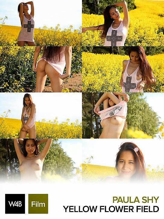 W22B 2014-07-13 Paula Shy - Yellow Flower Field (HD Video) 07210