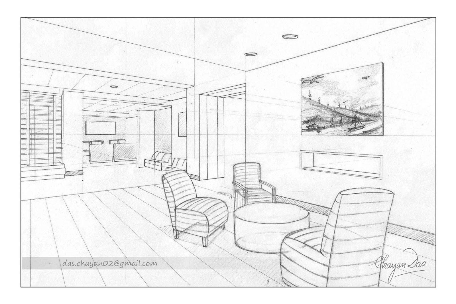 THE ART WORLD: Perspective BG Drawing