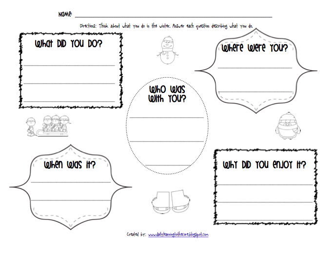 Free printable winter creative writing papers for