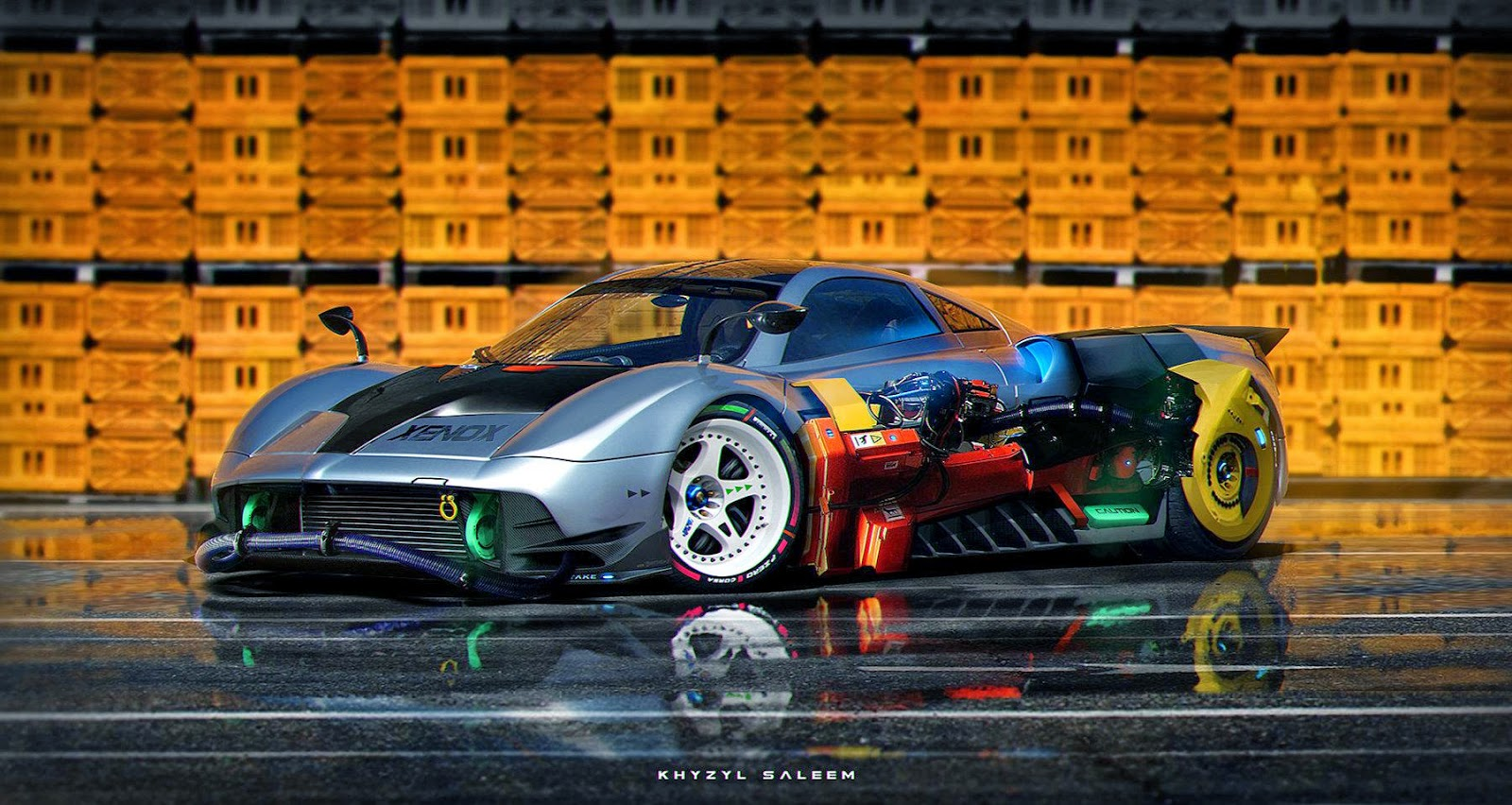Download Sci-Fiction Concept Car Wallpaper made by 21 Year Old Artist