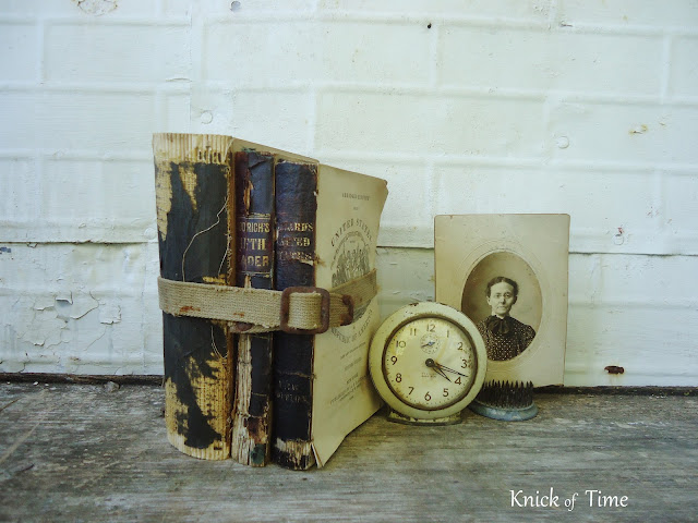 Antique Black Book Stacks Bundles via Knick of Time