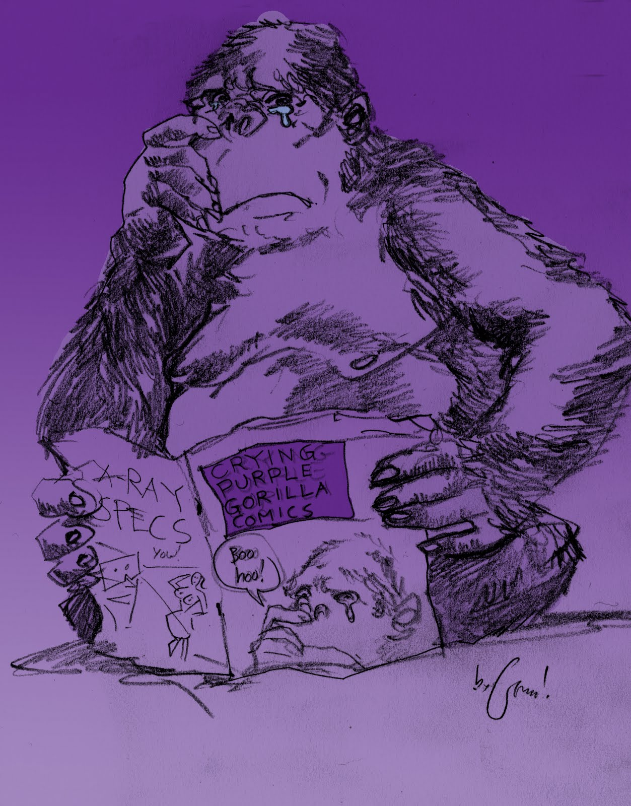 George O Connor S Online Sketchbook Crying Purple Gorilla Comics