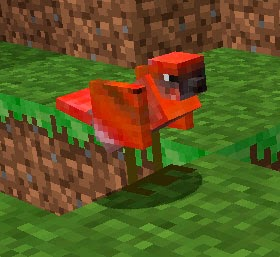 Mo' Creatures pájaro rojo Minecraft mod