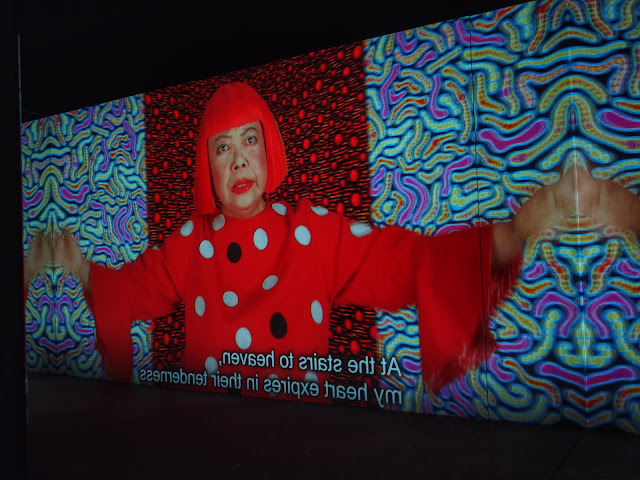 A snippet of the Kusama Video in Still Photography, Manhattan Suicide Addiction, 2013