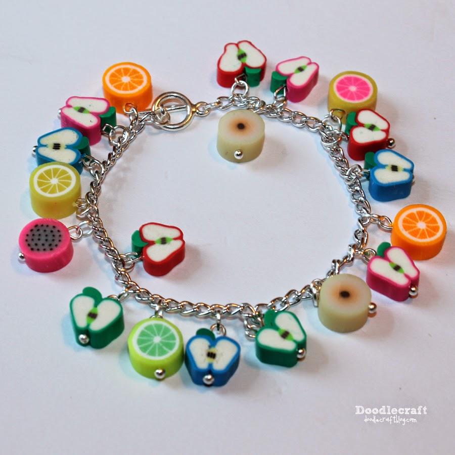http://www.doodlecraftblog.com/2014/08/fruit-charm-bracelet.html