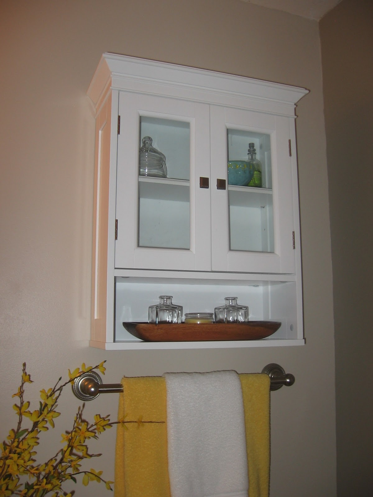 The delectable home 31 days 25 bathroom wall cabinet for Bathroom cabinets above toilet