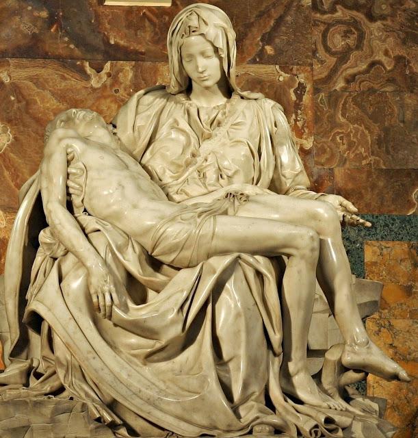 Pietà de Miguel Ángel.