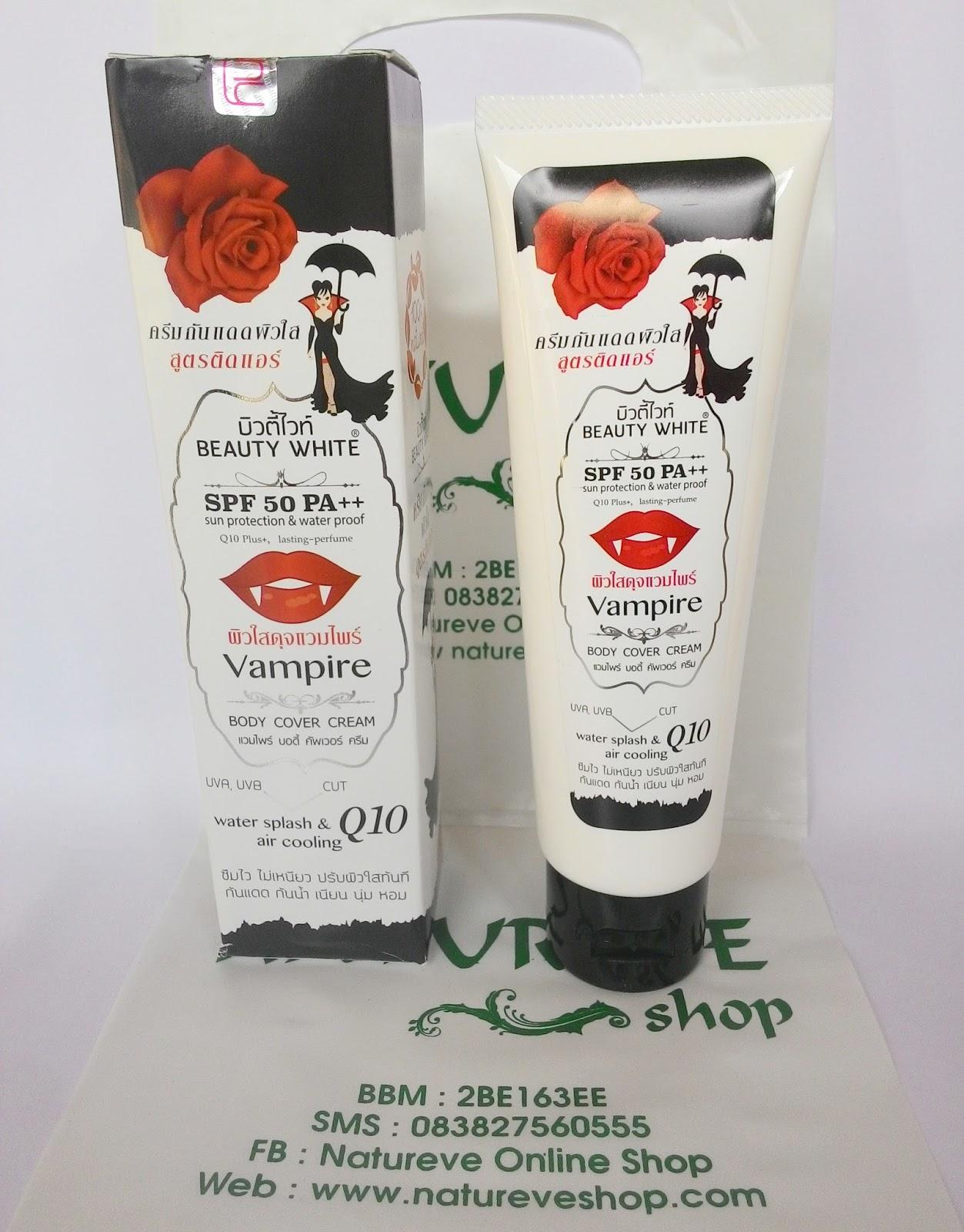 Perlindungan Kulit dengan Vampire Whitening Body Cover Cream