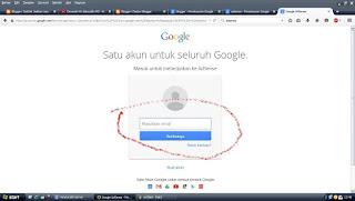 Masukkan Nama Gmail dan passowrd anda