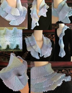 Undaria One-Skein Flutter Scarf