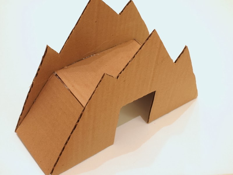 Make a cardboard bridge for trains and cars pink stripey for How to build a house in a mountain