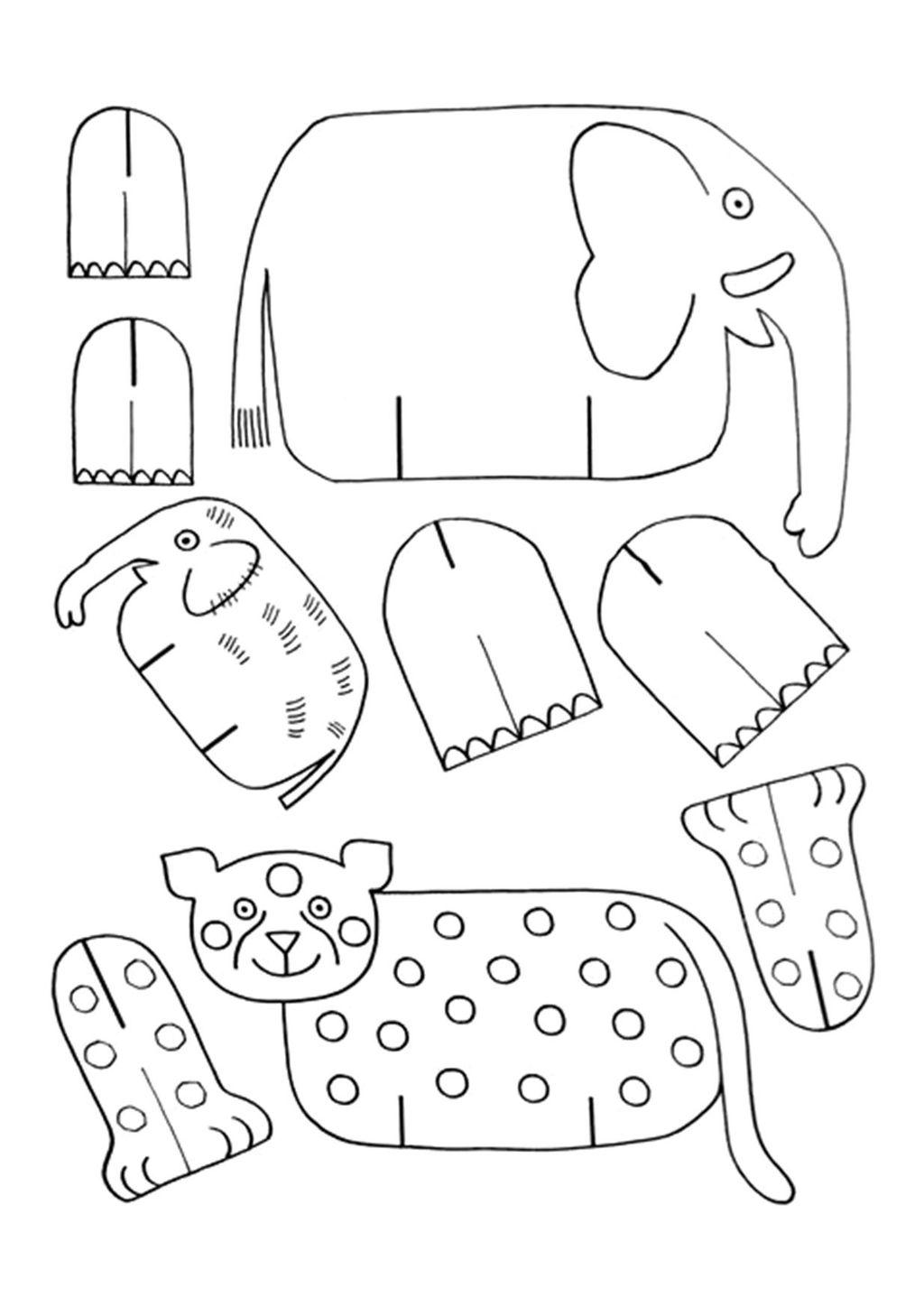 Объемные поделки животные из картона 95