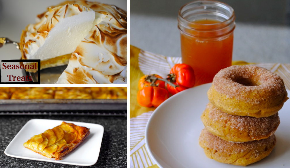 Deep-Dish Pumpkin-Meringue Pie // Baked Pumpkin Donuts // Apple Mosaic ...